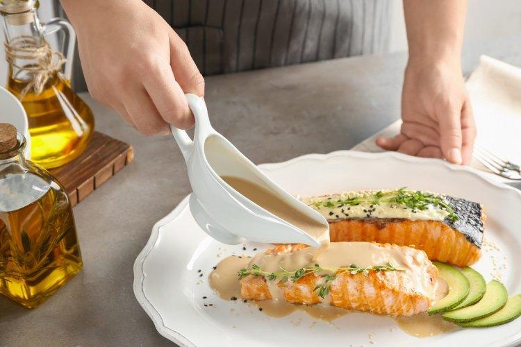 Photo of Filet de saumon sauce à l'ail et au chili