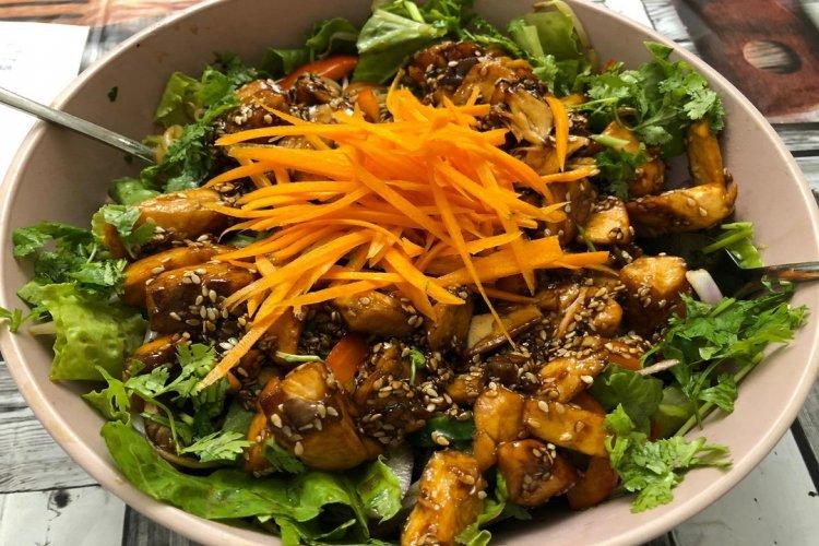 Photo of Salade de saumon chaud à la japonaise